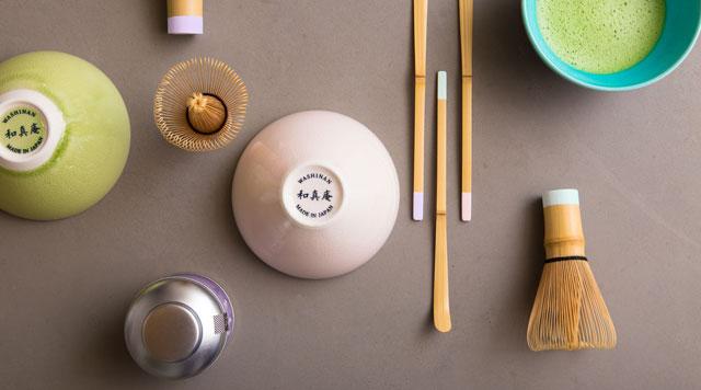和真庵の茶器と抹茶のパッケージデザイン